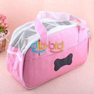 Pink Pet Comfort Carrier Dog Cat Tote Soft Travel Carry Bag Shoulder