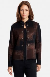 Ming Wang Embellished Mandarin Collar Jacket