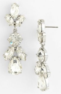 kate spade new york crystal petals drop earrings