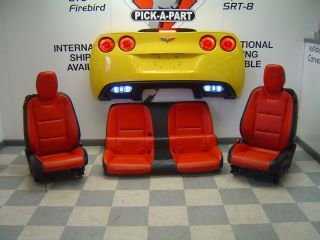 10 12 Chevrolet Camaro SS Black Orange Front and Rear Leather Seats
