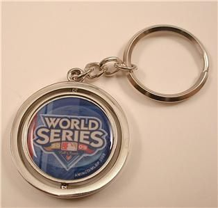 Yankees World Series Spinning Keychain Key Ring Chain