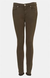 Topshop Moto Leigh Skinny Jeans (Dark Khaki)