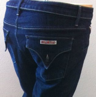 Hudson Collin Womens Dark Skinny Leg Jeans Hot 27 Button Flap Pockets