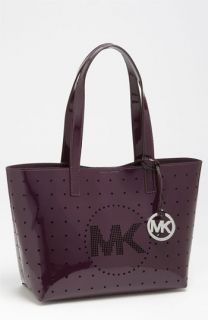 MICHAEL Michael Kors Small Perforated Patent Leather Tote