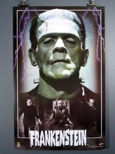 Frankenstein Horror Film Movie Poster Boris Karloff