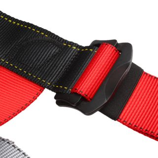 Exploration Climbing Seat Harness Polyester 300lb Black Red