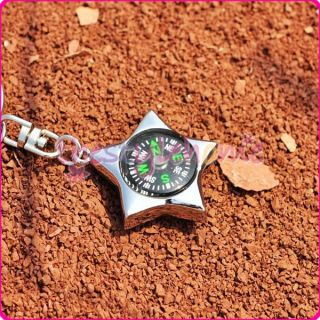 Cool Five pointed Star Compass Outdoor Sport Favor Pendant Key Chain