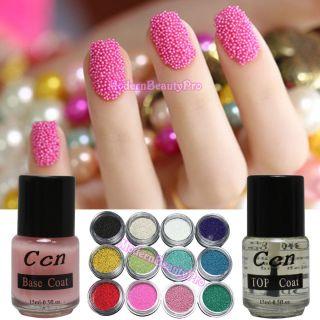 Beads Caviar For 12 Color Nail Art Decoration Base Top Coat DIY HB 310