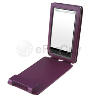 For B N Nook Color Flip Stand Portable Folio Leather Case Cover Pouch