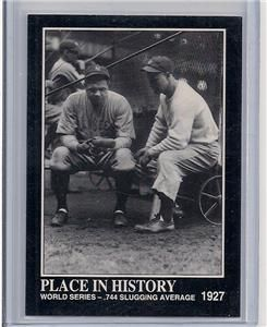1992 Babe Ruth Collection 1927 NY Yankees Ruth Gehrig