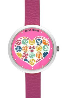 Lucky Brand Heart Dial Watch