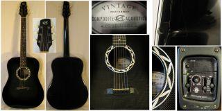 Composite Acoustic Vintage Performer Series Acoustic Electric Guitar