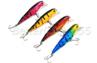 10x Fish Shape Jointed Fishing Lure Bait Hook Crankbait