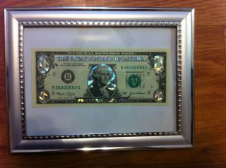 SILVER DOLLAR BILL GIFT CURRENCY MONEY COLORIZED LEGAL FEDERAL NOTE