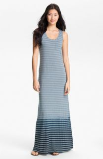 Allen Allen Ombré Stripe Maxi Dress