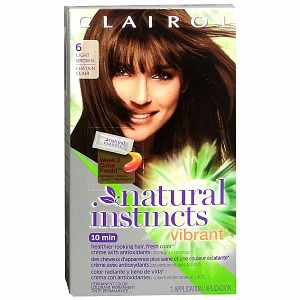 Clairol Natural Instincts Vibrant Permanent Color, Light Brown 6   1