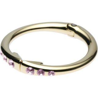 Gold Clipa w Light Rose Pink Swarovski Crystals Bracelet Bag Purse