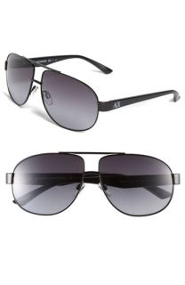 AX Armani Exchange Metal Aviator Sunglasses