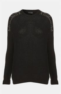 Topshop Embellished Shoulder Sweater