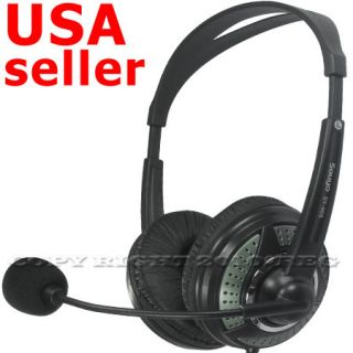 PC Computer Headphone Microphone Headset for Skype MSN