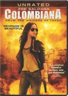 Colombiana DVD New Zoe Saldana Jordi Molla Columbiana