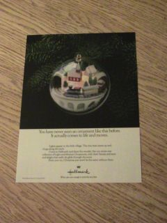 1986 Hallmark Advertisement Christmas Ornament Ad Tree
