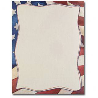 American Flag Border 4th of July Laser & Inkjet Computer Printer Paper