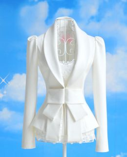 New Womens European Bowknot Cultivating Long Sleeved Slim Suit Blazer