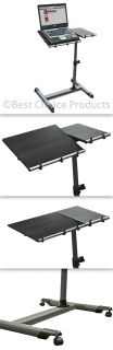 Rolling Laptop Table W/ Tilltable Tabletop Overbed Desk TV Food Tray