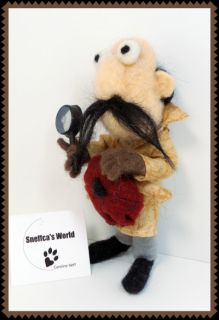 Sneffcas World Needle Felted Inspector Clouseau from The Pink