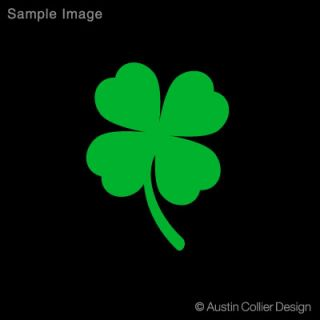 Four Leaf Clover Vinyl Decal Car Sticker Lucky Charm