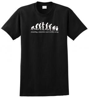 Evolution T Shirt Computer Nerd Funny Geek Cool
