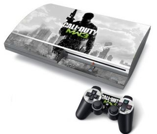 Sony PS3 Fat Console Protector Vinyl Skin Sticker Call of Duty MW3