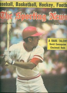 Sporting News CINCINNATI Reds DAVE CONCEPCION No/Label FREE SHIPPING