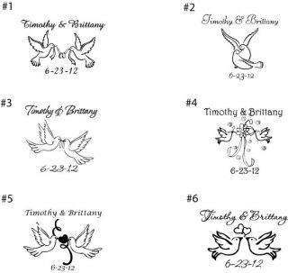100 Personalized Doves Theme Wedding Favor Shot Glasses Custom Wedding