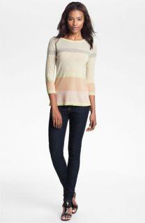 autumn cashmere Stripe High/Low Sweater