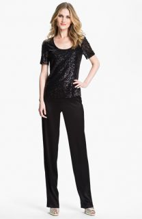 St. John Collection Diana Straight Leg Liquid Satin Pants