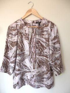 BCBG MAXAZRIA Satin Silk Blouse Shirt Tuxedo Glam Top S