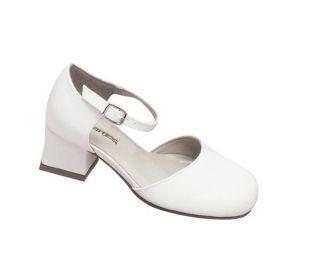 Miss Coloriffics Flower Girl White Satin Shoe