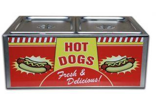 Commercial Hot Dog Steamer Bun Warmer