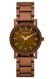 DKNY Stainless Steel Crystal Bracelet Watch