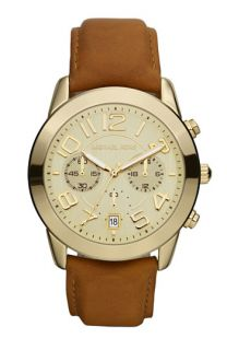 Michael Kors Chronograph Leather Strap Watch
