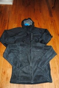 Mens Black Columbia Exposure Falls 3in1 Winter Ski Jacket Coat Parka