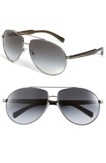 Prada Arrow Temple Metal Aviator Sunglasses