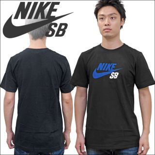 Nike SB Icon Fill T Shirt Black Blue White New Skateboarding Dunk