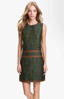 Rachel Roy Tweed & Leather Shift Dress