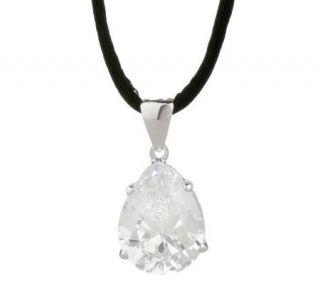 Esposito Diamonique Sterling 15 ct Pear Pendant w/ Adjustable Cord