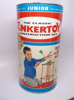 Tinkertoy Construction Set Builder Set Junior 66 Pieces 5 8 Rods 7 8