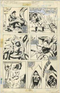 John Buscema Conan Movie Special 1 Page 24 Original Art Giant Snake