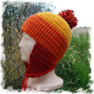 JAYNE COBB style Firefly Serenity Cunning Hat earflap red gold orange